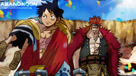 One Piece Luffy Eustass Kidd Udon Prison Anime by Amanomoon