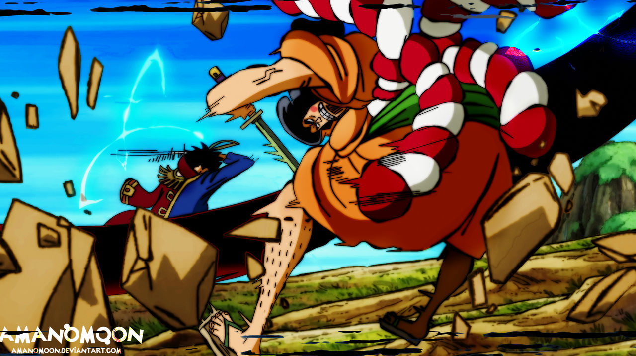 One Piece Chapter 966 Gol d Roger vs Oden Kozuki by Amanomoon on DeviantArt
