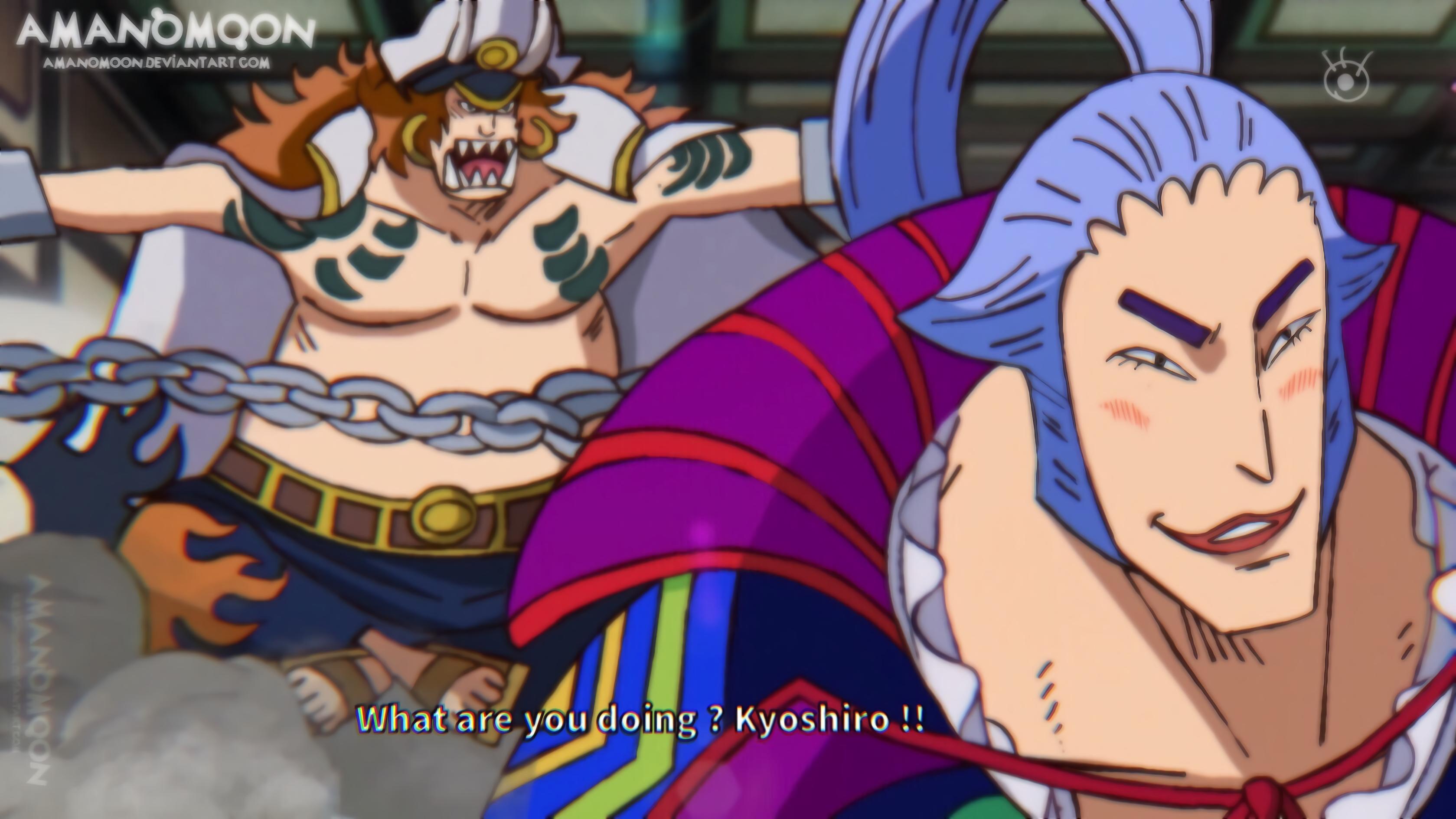 One Piece Chapter 982 Kyoshiro Sasaki Anime Style By Amanomoon On Deviantart
