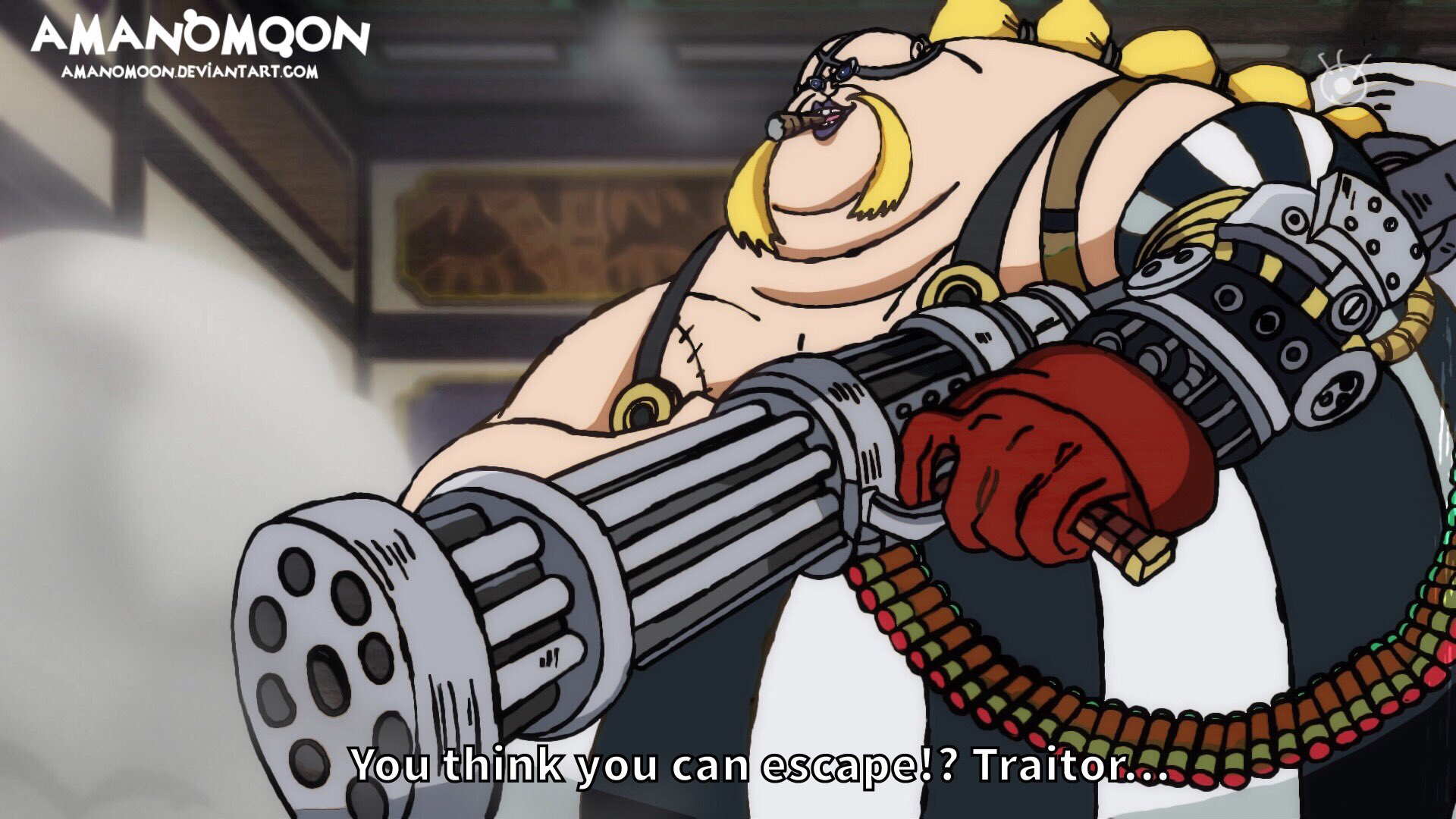 One Piece Chapter 991 Queen Gun Pisto Anime Style by Amanomoon on DeviantArt