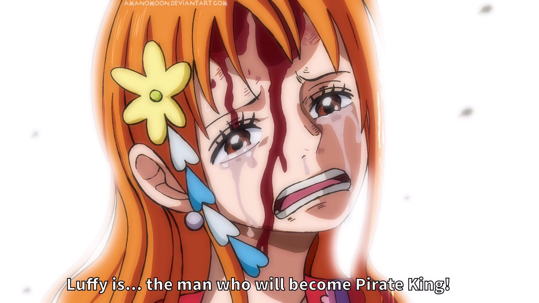 One Piece Chapter 995 Nami Crying Luffy Anime Wano By Amanomoon On Deviantart