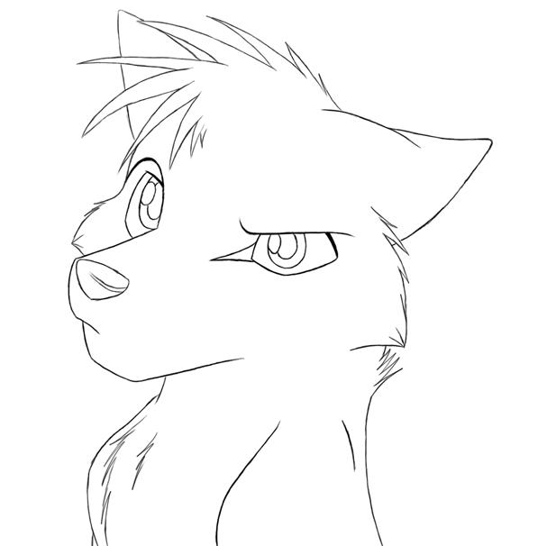 Lineart Wolf : Wolf friends lineart