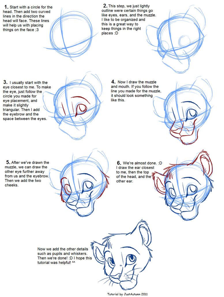Los dibujos de Rey Simba Hakuna Matata  - Página 2 How_to_draw__head_tutorial_by_justautumn-d47l7wn