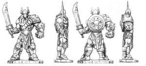 Duellum Warrior miniature