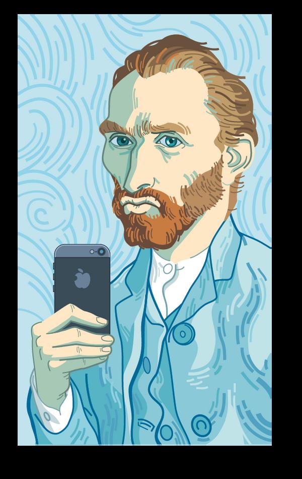 Selfie Van Gogh by martinorona