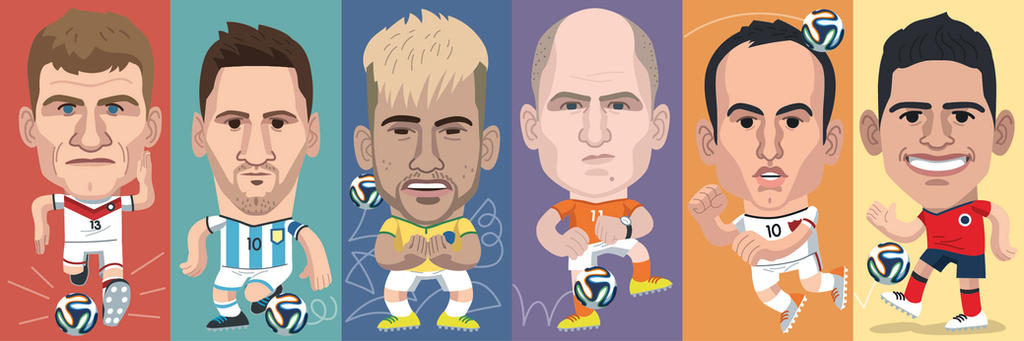 Jugadores Brasil 2014 by martinorona