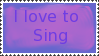 I love to sing by Kezel-stamps