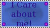 I care about me by Kezel-stamps
