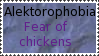 Fear of chickens by Kezel-stamps