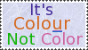 Colour not color stamp by Kezel-stamps