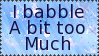 I babble stamp by Kezel-stamps