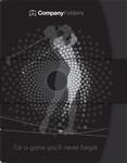 Golfer Swinging Silhouette Folder Design Template