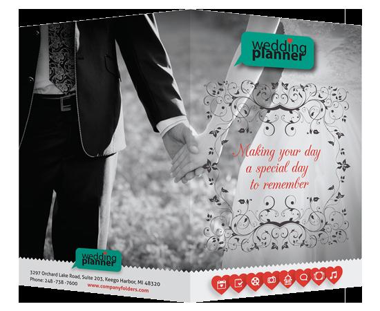 Wedding Invitation Pocket Folders [Free Template] by companyfolders
