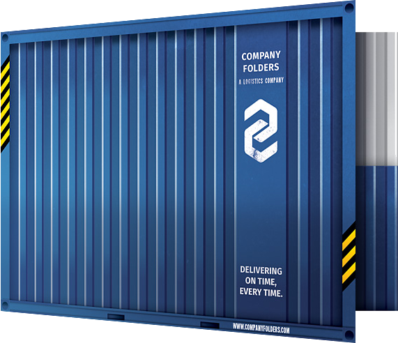 shipping container folder design template by