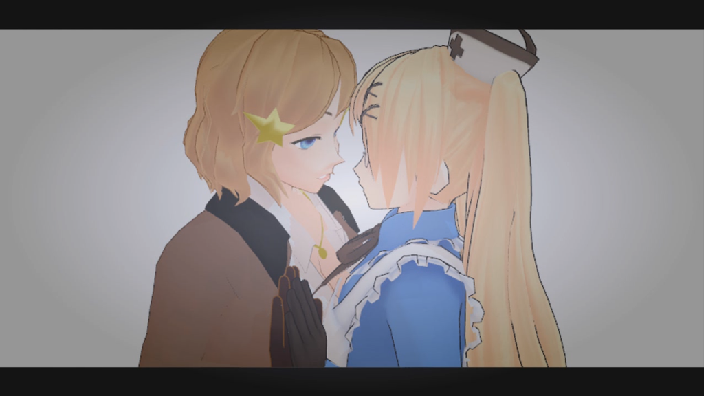 Fem!UsUk - Kissing [Magnet Yuri MMD video] by YamiMana