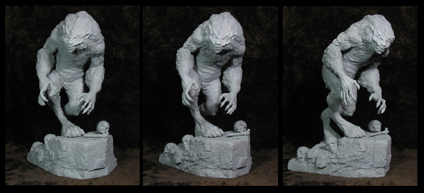 DEMON WEREWOLF UNPAINTED by MosesJaen