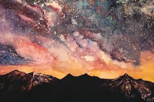 Starry Night Sky by Kmotyl