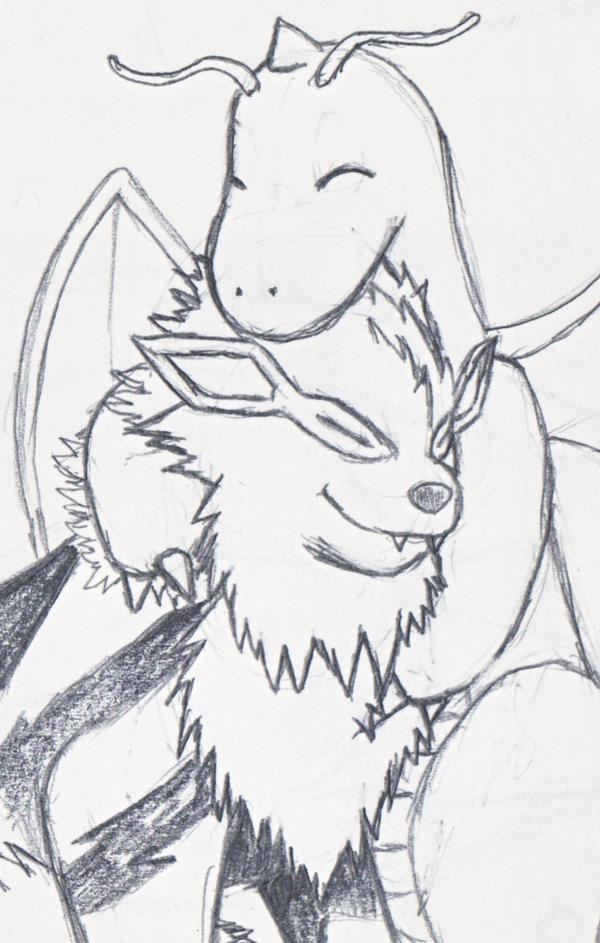Fang and Angel Hug by Dragonsbld