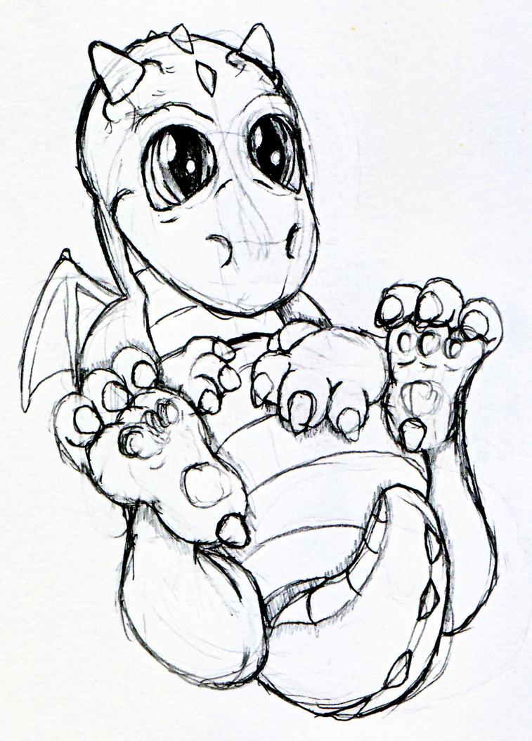 A Baby Dragon by Dragonsbld