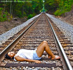 Day Dreaming on the Tracks by AJPastor