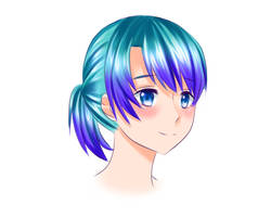 Headshot Color Practice by Nenraeka