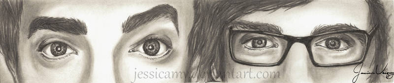 Rhett and Link pencil drawing by Jessicamv