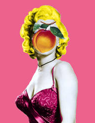 Marilyn with peach 2 by cometomorrow