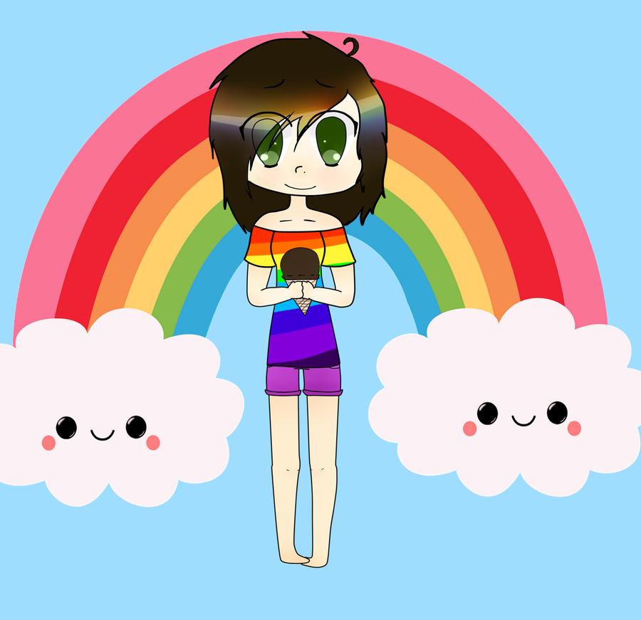 Rainbow Girl?? by 0EvilBunnies0
