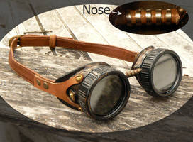 Steampunk goggles number 5 by mantisred