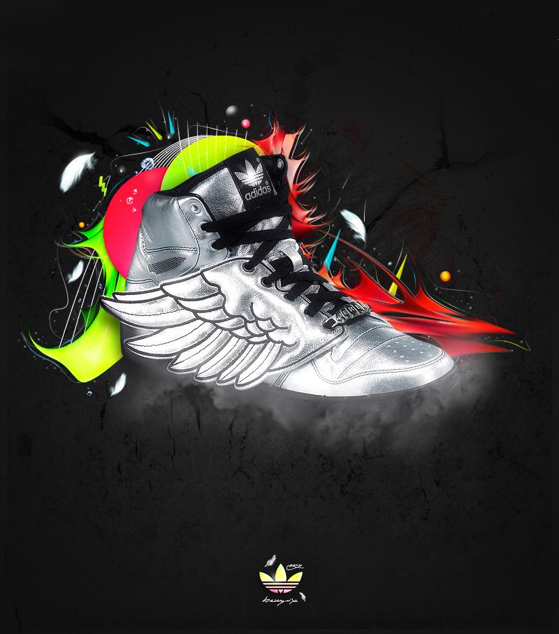 Flying Adidas by BewPix