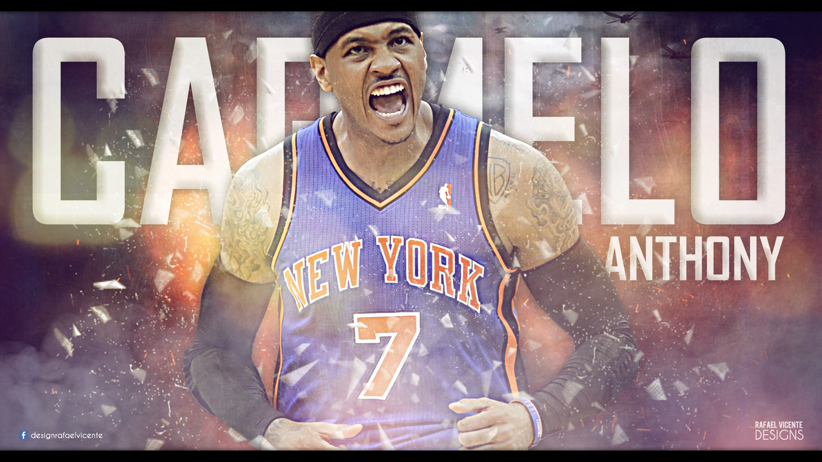 Carmelo Anthony Wallpaper By RafaelVicenteDesigns