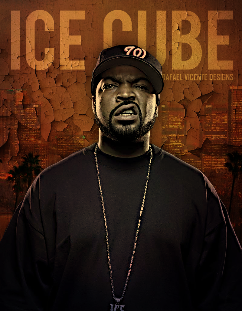 Ice Cube Photo By RafaelVicenteDesigns