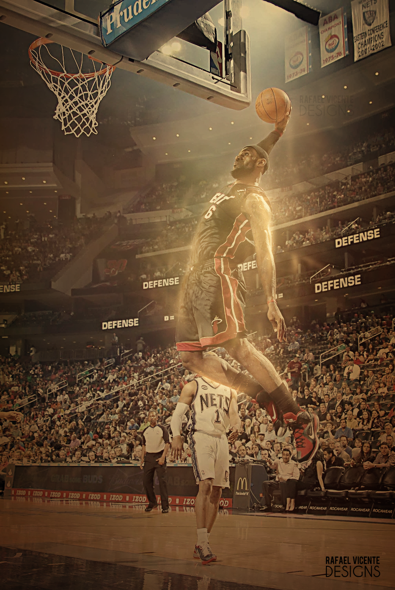 LeBron James Dunk By RafaelVicenteDesigns