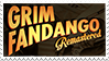 Grim Fandango stamp: Grim Fandango remastered fan by RussianRatigan