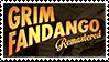 Grim Fandango stamp: Grim Fandango remastered fan by RussianRatigan