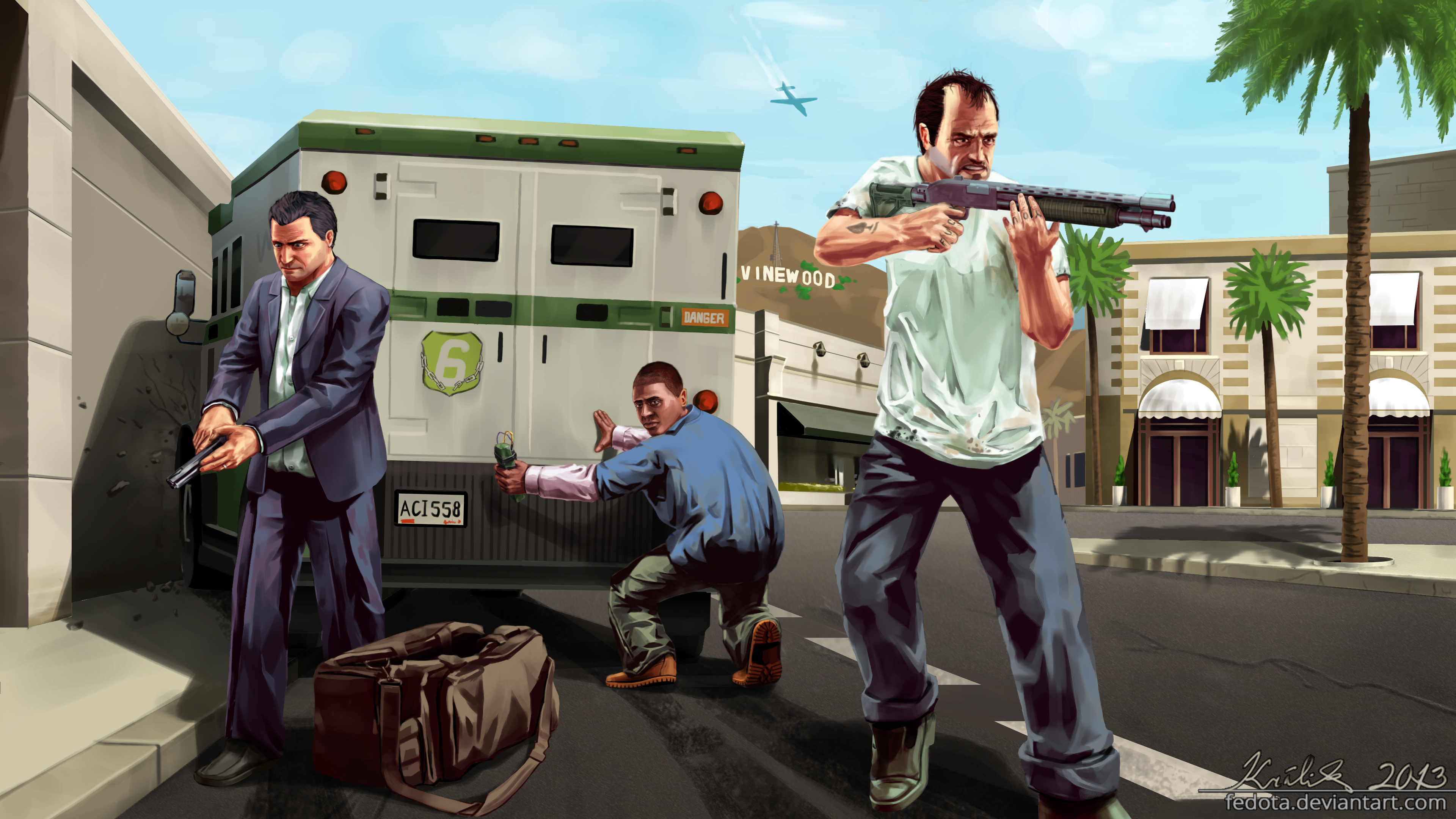 Grand theft auto v 4k by fedota on deviantart for Painting games com