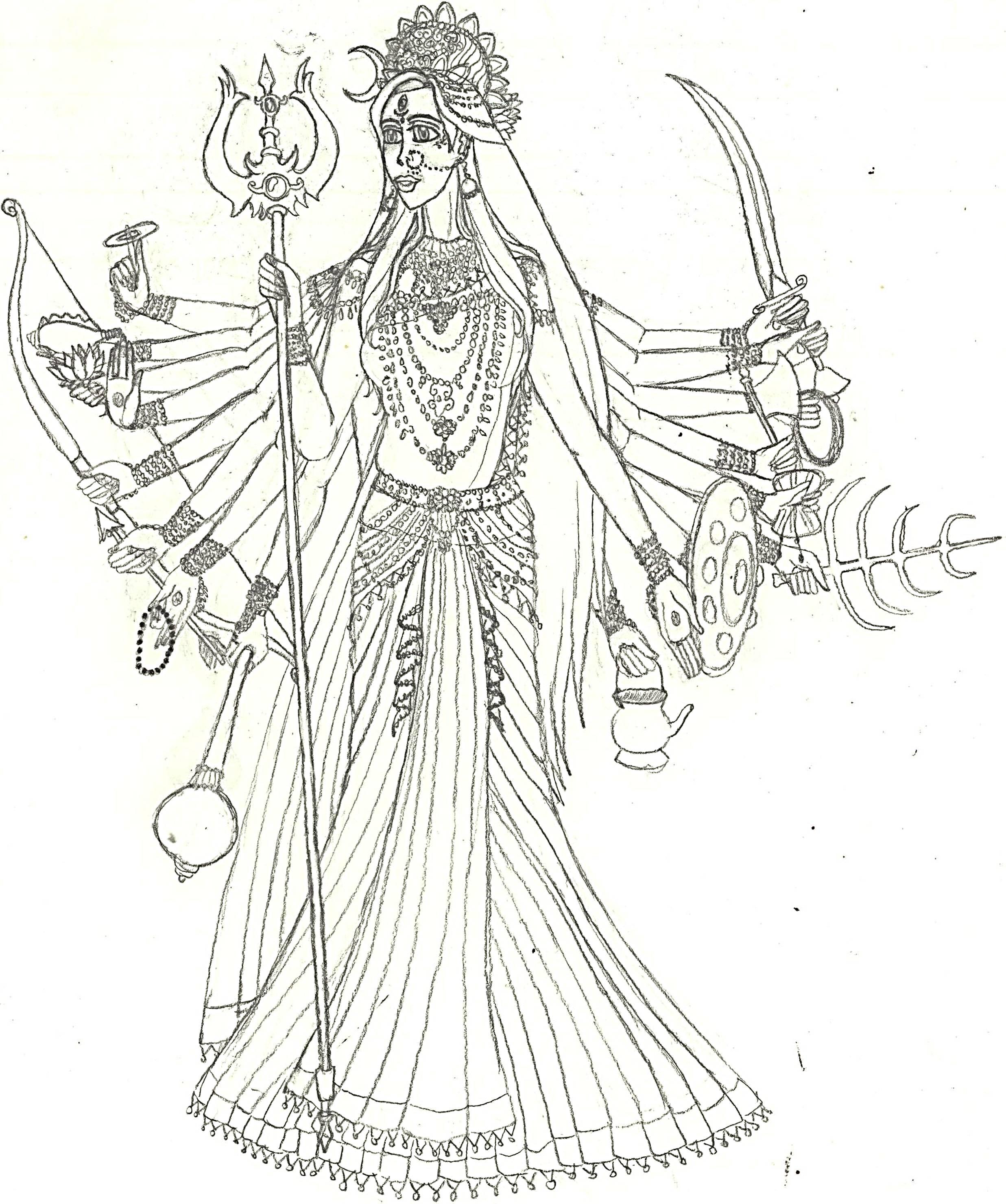 Durga (Mahishasura-Mardini) By R3m1stikn On DeviantArt