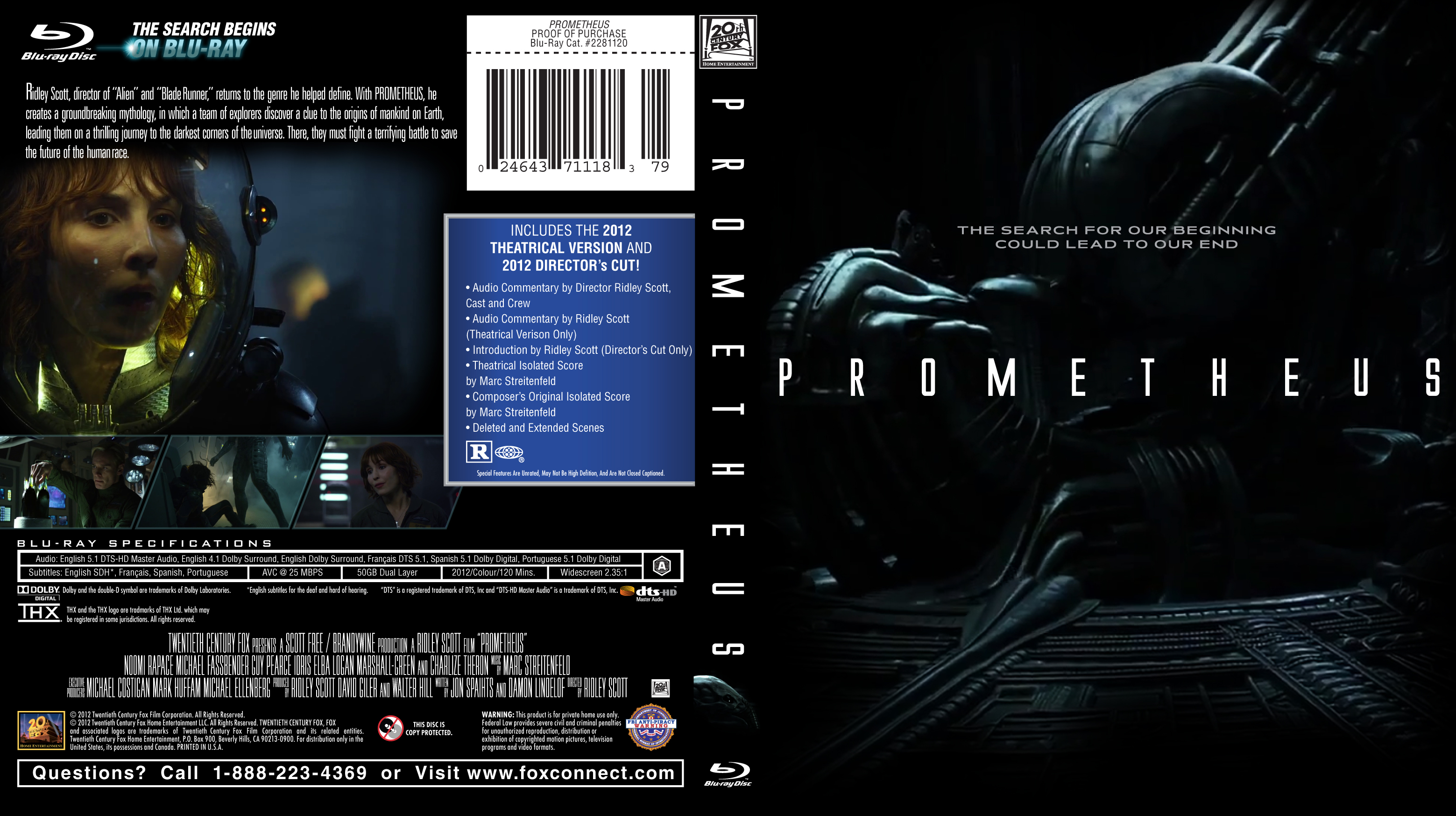 prometheus blu ray cover by modernaesthetic on deviantart. Black Bedroom Furniture Sets. Home Design Ideas