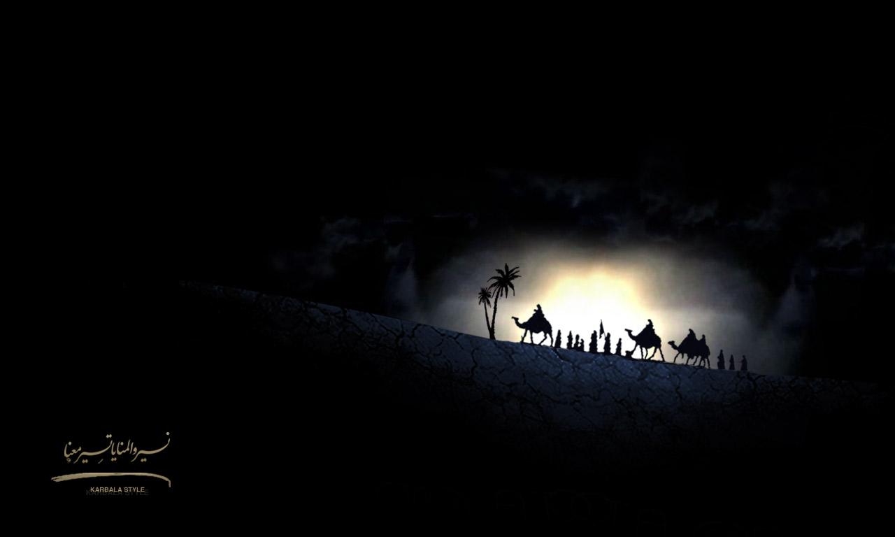 کاروان عاشورا --- طرح زیبای کاروان عاشورای حسینی در راه کربلا ...