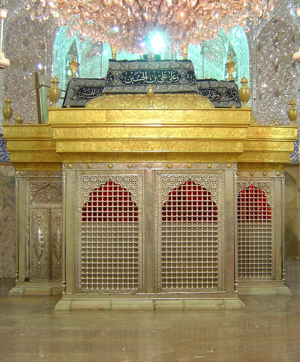 ضریح شش گوشه حضرت امام حسین علیه السلام - 2 --- عکس زیبا و با کیفیت از ضریح امام حسین علیه السلام در کربلا