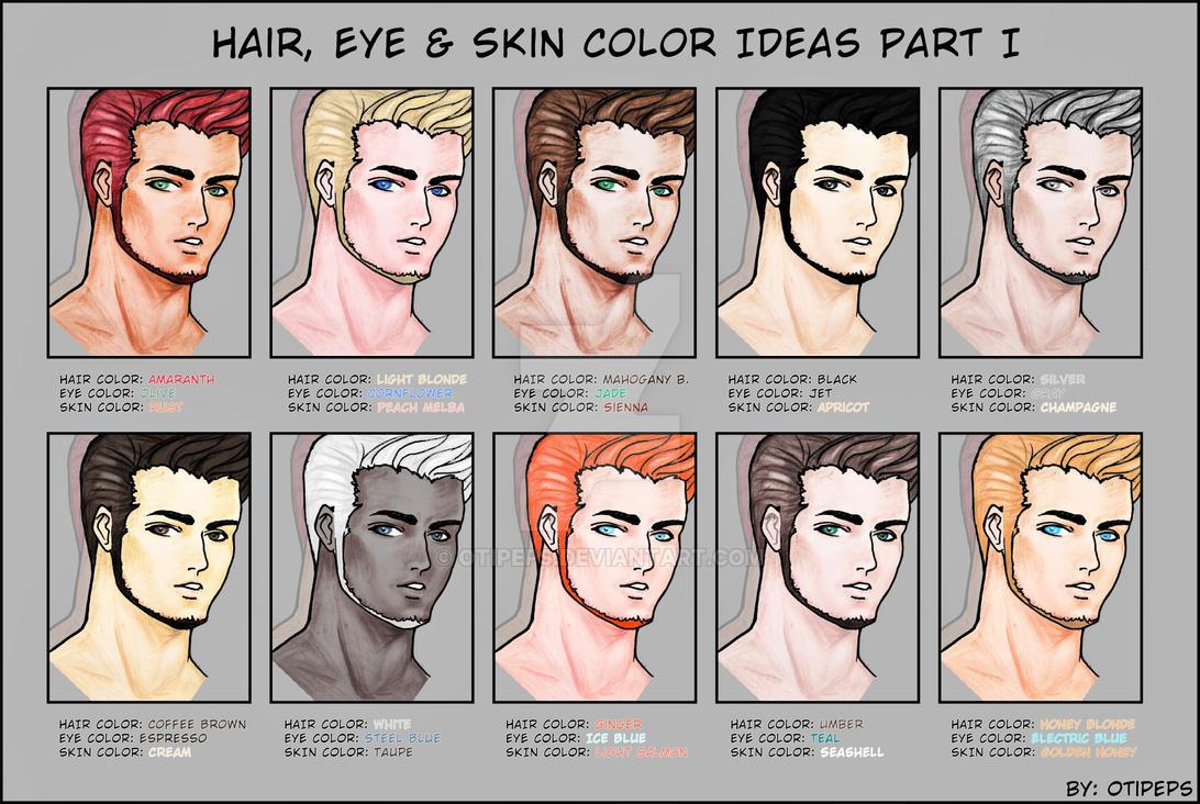 Hair Eye Skin Color Ideas Part I By Otipeps On Deviantart