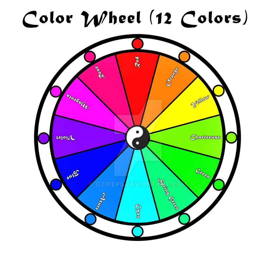 The Color Wheel 12 Colors By Otipeps On Deviantart