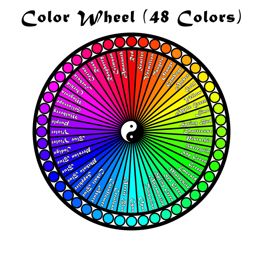 The Color Wheel 48 Colors Rainbow By Otipeps