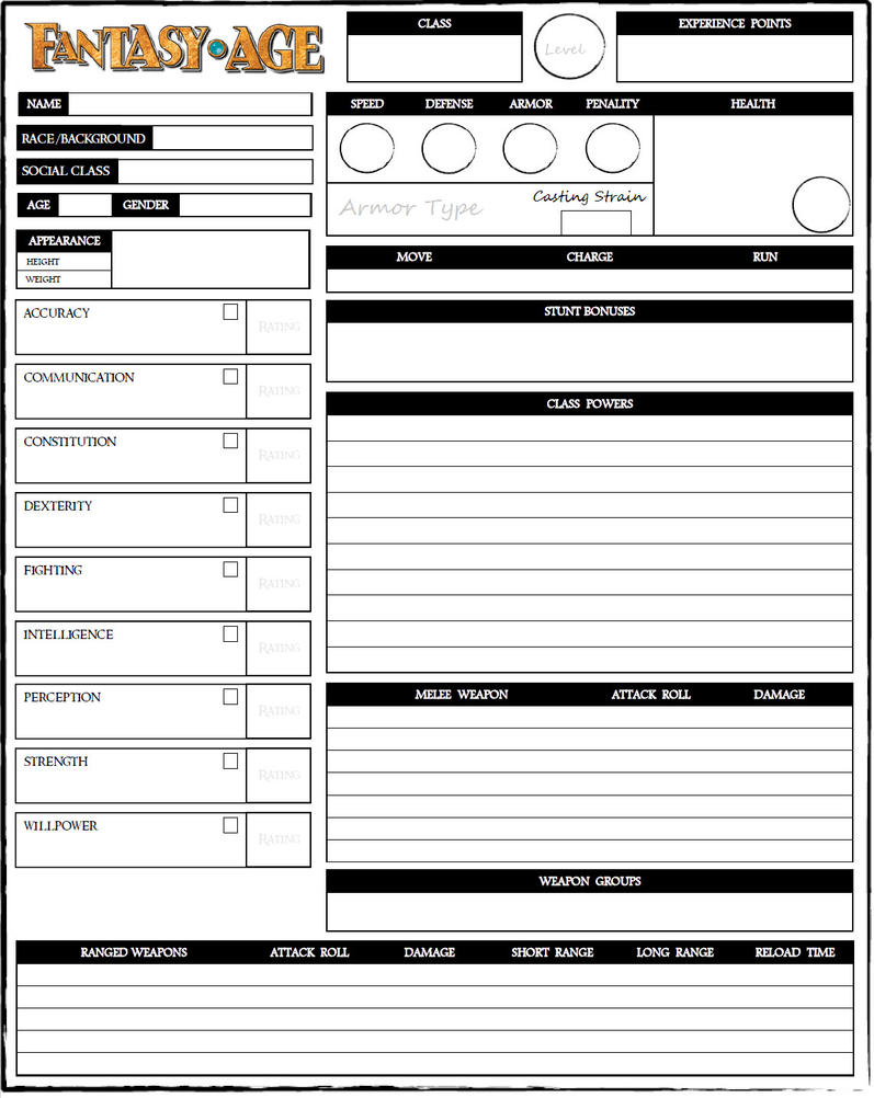 heroes unlimited character sheet pdf