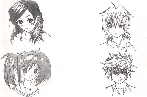 anime hairstyles. Anime Hairstyles by ~ginjijude