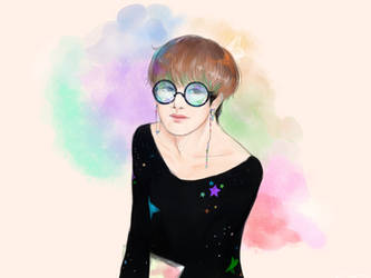 Space Tae + Glasses by Awesome9000
