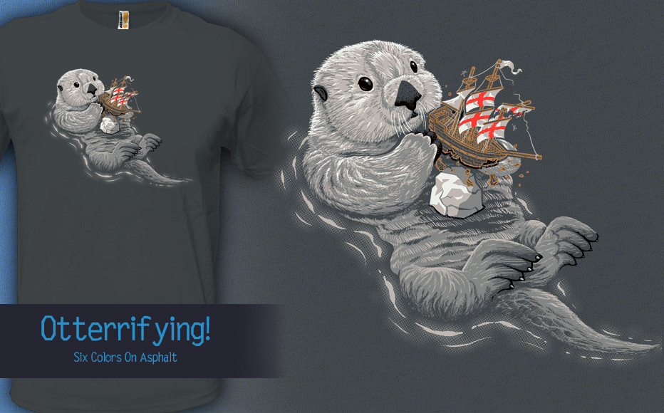 Otterrifying - t-shirt by InfinityWave