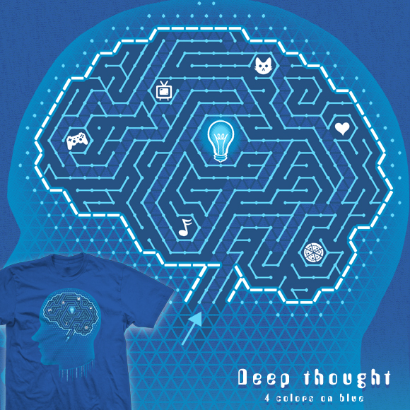 Deep thought - tee by InfinityWave