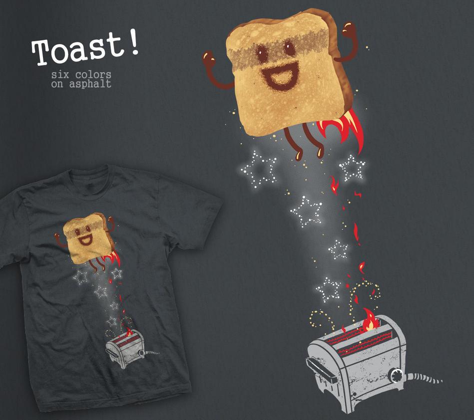 Toast tee by InfinityWave