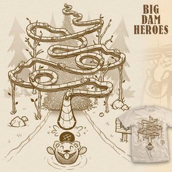 Big Dam Heroes t-shirt
